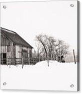 Snowy Day At The Farm Acrylic Print