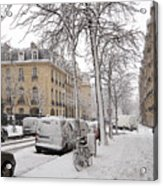 Snowy Day In Paris Acrylic Print