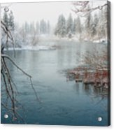 Snowy Day On The River Acrylic Print