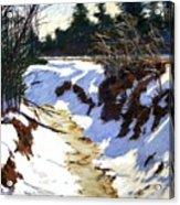 Snowy Ditch Acrylic Print
