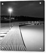 Snowy Dock Acrylic Print