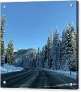Snowy Drive Acrylic Print