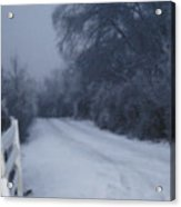 Snowy Evening Acrylic Print