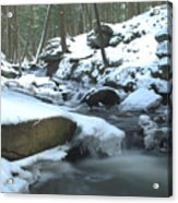 Snowy Falls Acrylic Print