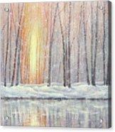 Snowy Glow Acrylic Print