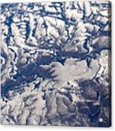 Snowy Landscape Aerial Acrylic Print