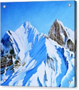 Snowy Mountain Acrylic Print