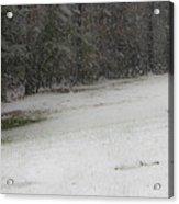 Snowy Patriot Quantico National Cemetery Acrylic Print