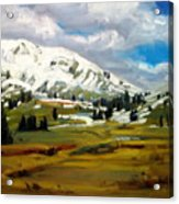 Snowy Peaks Acrylic Print