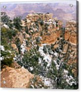 Snowy Pillar 2 - Grand Canyon Acrylic Print
