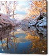 Snowy Refections Acrylic Print