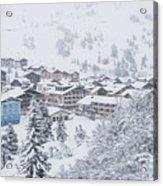 Snowy Resorts Acrylic Print