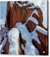 Snowy Ridge Acrylic Print
