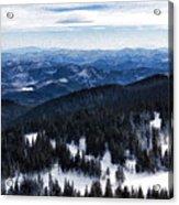 Snowy Ridges - Impressions Of Mountains Acrylic Print