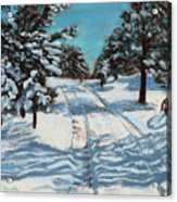 Snowy Road Home Acrylic Print