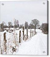Snowy Rural Landscape Acrylic Print