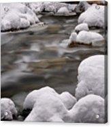 Snowy Stickney Brook Acrylic Print