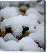Snowy Stones Acrylic Print