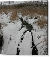Snowy Stream Acrylic Print