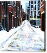 Snowy Street Acrylic Print