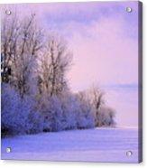 Snowy Sunday Acrylic Print