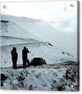 Snowy Switchbacks On Pikes Peak Acrylic Print