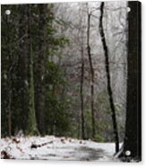 Snowy Trail Quantico National Cemetery Acrylic Print