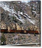 Snowy Train Acrylic Print