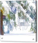 Snowy Trees In Winter Landscape  Acrylic Print