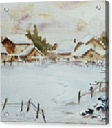 Snowy Village Acrylic Print