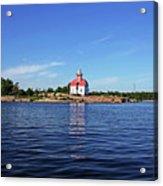 Snug Harbour Lighthouse Acrylic Print