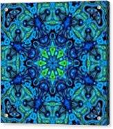 So Blue - 04v2 - Mandala Acrylic Print
