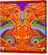 So Hot It Will Burn Your Face Off Art And Text Acrylic Print
