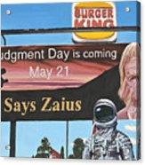 So Says Zaius Acrylic Print