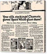 Your Silk Stockings Vintage Soap Ad Acrylic Print