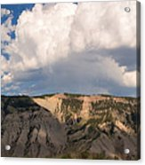 Soaring Above Mount Everts Acrylic Print
