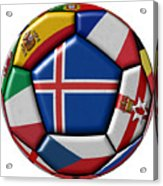 Soccer Ball With Flag Of Iceland In The Center Acrylic Print