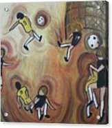 Soccer Acrylic Print by Suzanne  Marie Leclair