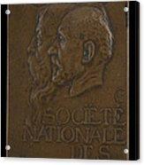 Soci?t? Nationale Des Beaux-arts: Jean-louis Ernest Meissonier And Pierre Puvis De Chavannes [obverse] Acrylic Print