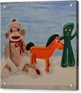 Sock Monkey And Friends Acrylic Print