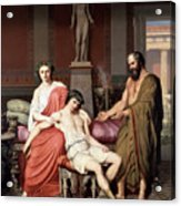 Socrates Chiding Alcibiades Acrylic Print