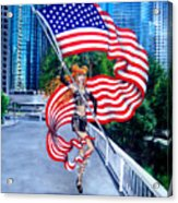 Sofia Metal Queen. Born 4th Of July Acrylic Print