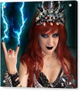 Sofia Metal Queen. Metal Is Lifestyle Acrylic Print