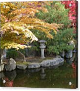 Soft Autumn Pond Acrylic Print