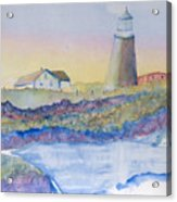 Soft Blue And A Light House Acrylic Print