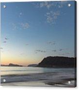 Soft Blue Dawn Seascape Acrylic Print