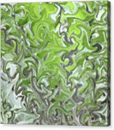 Soft Green And Gray Abstract Acrylic Print