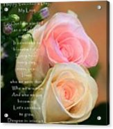 Soft Pastel Roses Acrylic Print