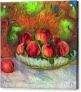 Soft Peaches Still Life Acrylic Print