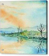 Soft Reflections  Acrylic Print